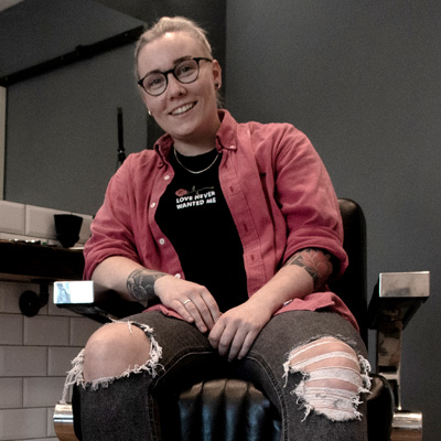 Black Lotus Barbers founder, Amy Wright